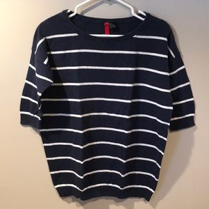 🎀2/$20 H&M Navy Oversized Striped Sweater